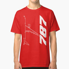 Boeing 787 Top View T Shirt boeing boeinglove boeingfan 787 787fan 787love b787 airplane plane(China)