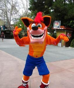 Image 1 - Adult Deluxe Crash Bandicoot Wolf cartoon Mascot Costume outfit Fancy Dress Christmas party advertsing for Halloween Mascot cos