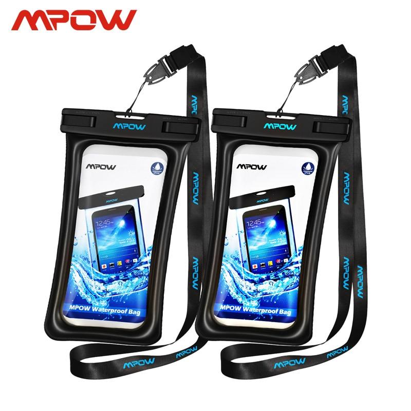 Mpow ipx8 à prova dwaterproof água caso saco universal 6.5 polegada saco do telefone móvel nadar caso tirar foto sob a água para o iphone xs samsung huawei