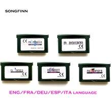 Eng/fra/deu/esp/ita 언어 eur 버전 32 비트 비디오 게임 카트리지 콘솔 카드 us/eu 버전 fin fantasy series