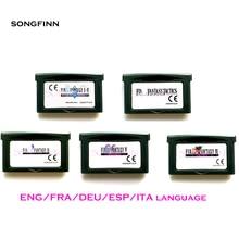 Versión europea en Inglés/FRA/DEU/ESP/ITA para Cartucho de videojuegos de 32 bits, tarjeta de consola versión US/EU Fin serie de fantasía