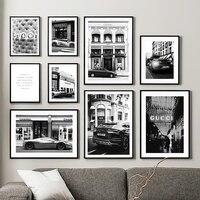 Paris Champs Elysees-cuadro sobre lienzo para pared, carteles nórdicos e impresiones de imágenes de pared para decoración para sala de estar