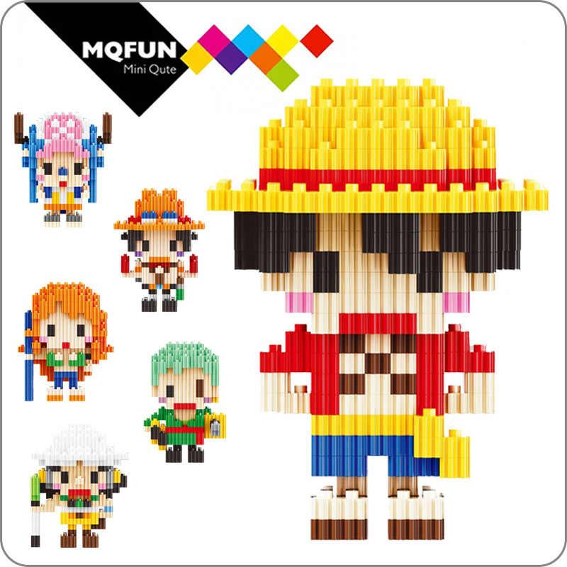 MicroBlock Children Anime Portgas Ace Fire One Piece Model Building Blocks Mini