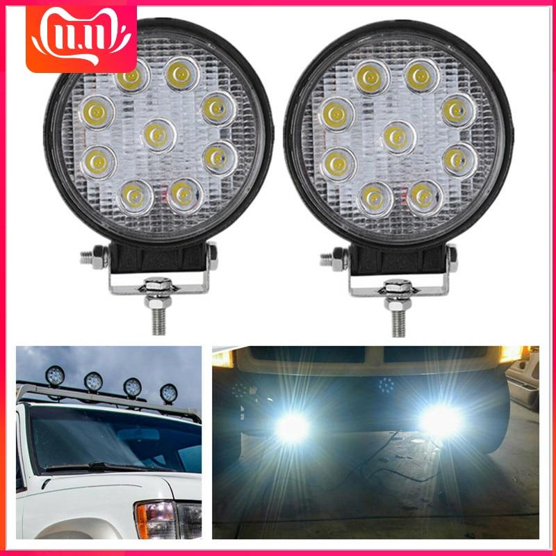 2PCS Round LED Spotlight 27W LED Bar Spot 24V 12V Work Light Lamp Fog LED Driving Lights SUV 9led Work Lights For Tractors