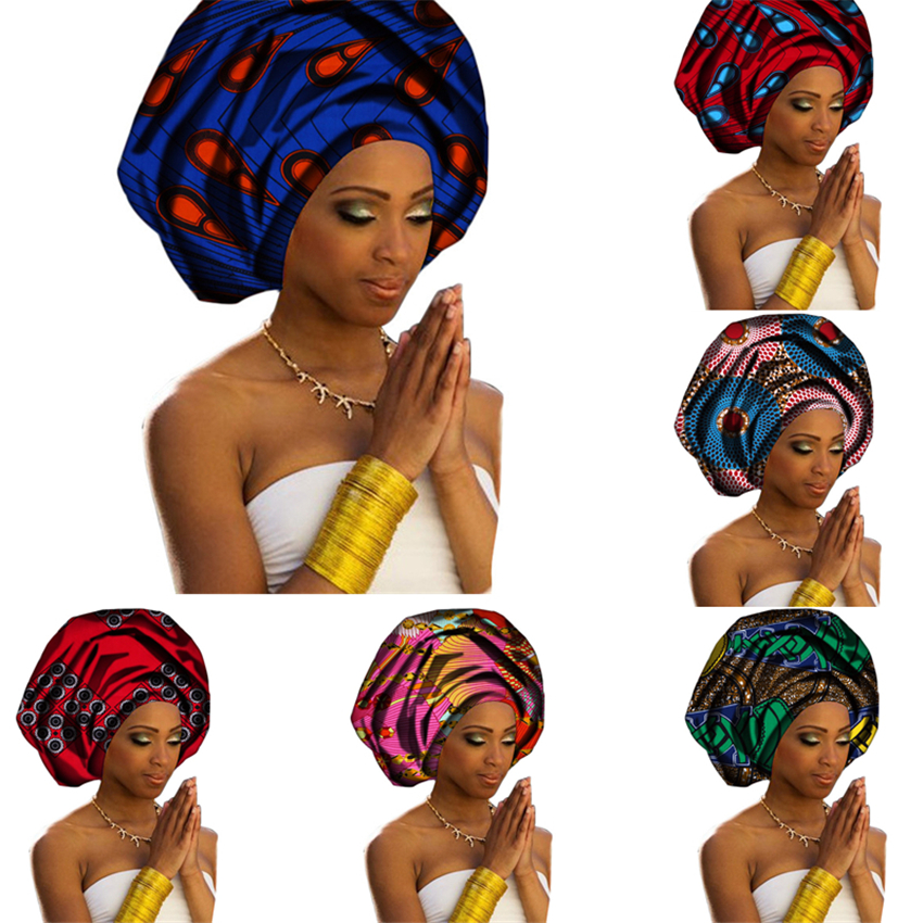 27Color African Fashion Women Headband Printed Rich Bazin Dresses 100%Scarf Nigerian Headtie Danshiki Africa Clothing 50*180CM