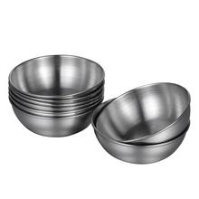 BESTONZON 8 sztuk ze stali nierdzewnej sos naczynia żywności zanurzenie miski okrągłe przyprawy danie spodek przekąski talerze tanie tanio AE (pochodzenie) Side Plates ROUND RUBBER Other
