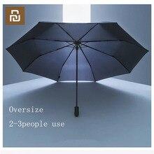 Youpin 90 dakikalık şemsiye rüzgar geçirmez su geçirmez Anti UV boy takviyeli şemsiye üç katlanır güneşli ve yağmurlu şemsiye H30
