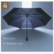 Youpin 90 دقيقة مظلة يندبروف مقاوم للماء المضادة للأشعة فوق البنفسجية كبيرة الحجم عززت مظلة ثلاثة للطي مظلة مشمس وممطر H30