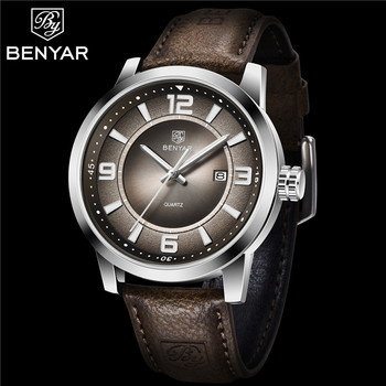 2020 NEW BENYAR Men Watches Brand Luxury Leather Strap Waterproof Sport Quartz Military Watch Male Date Clock Relogio Masculino dom men watches top brand luxury quartz watch casual quartz watch black leather mesh strap ultra thin fashion clock male relojes