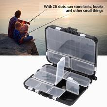 Double Layers Box Spinner Box Bait Minnow Popper Box Reinforcement Parts Lightweight and Portable Black Fishing Tool Box fishing tackle box fly fishing box spinner bait minnow popper 9 compartments black