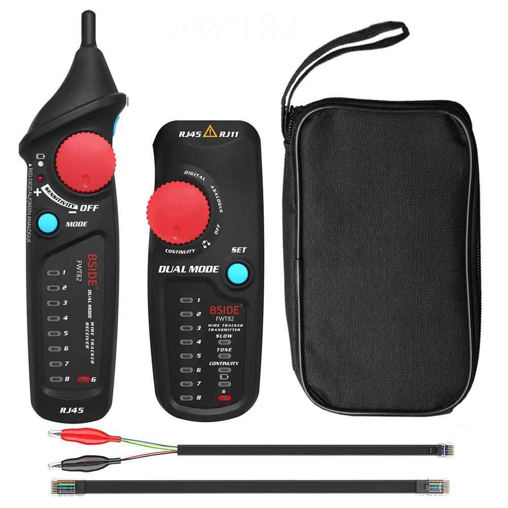 FWT82 FWT81 comprobador de rastreador de cables de red RJ45 RJ11 Cable de teléfono tóner Ethernet LAN rastreador Detector buscador de línea