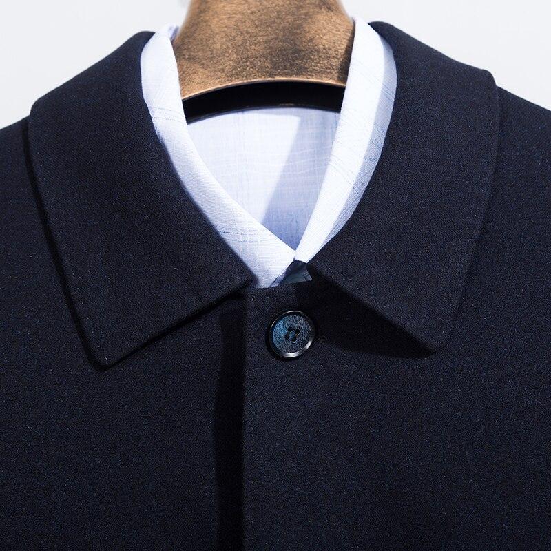 Новые Большие размеры 8XL 7XL пальто мужские зимние модные мужские пальто шерстяные качественные толстые теплые пальто мужские шерстяные пал... - 6