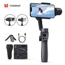 Funsnap Capture2 Cardán estabilizador de 3 ejes de mano palo selfie para smatphone, Samsung, iPhone X XR 8 7, cámara de acción Go pro, EKEN
