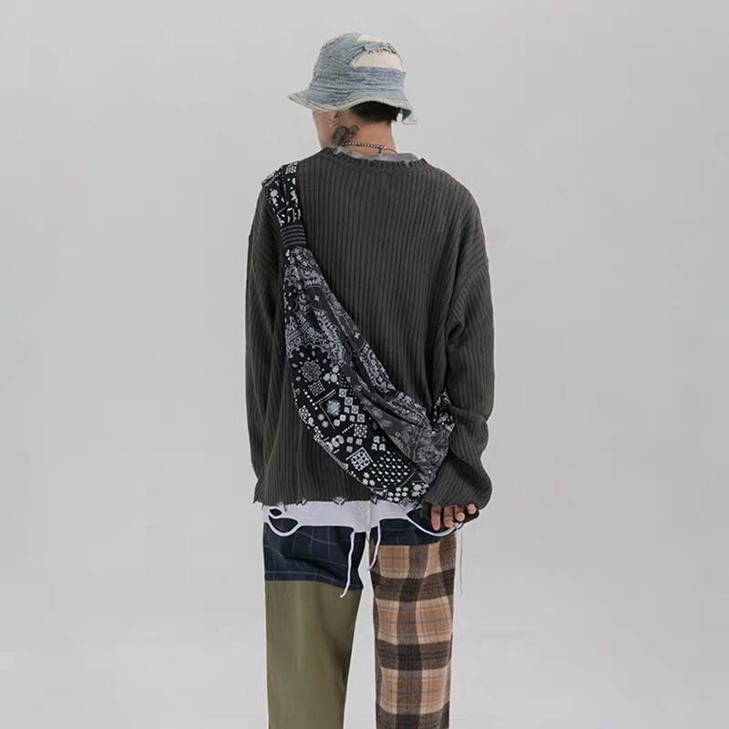 NiceMix 2020 Harajuku Koren Women Bag Crossbody Bags For Women Hip Pop National Style Patchwork Couples Bags Cashew Pattern