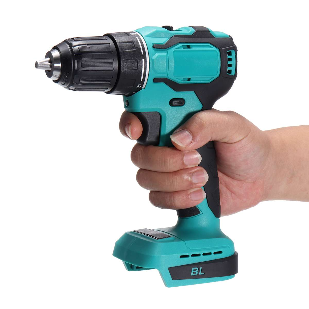 18V 90Nm 13mm Electric Cordless Brushless Impact Drill Rechargable DIY Power Tool Hammer Drill Screwdriver For Makita Battery