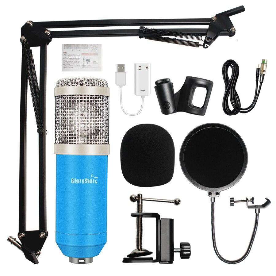 Condensateur professionnel Audio 3.5mm filaire BM800 Studio Microphone enregistrement Vocal KTV karaoké Microphone micro avec support pour ordinateur