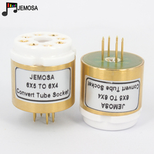 1 adet 6X5 6X5G 6Z5P (üst) 6X4 (alt) tüp 8Pins 7Pins DIY ses vakum tüp amplifikatör dönüştürmek soket adaptörü ücretsiz kargo