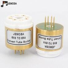 1PC 6X5 6X5G 6Z5P (haut) à 6X4 (bas) Tube 8 broches à 7 broches bricolage Audio amplificateur de Tube à vide convertir adaptateur de prise livraison gratuite
