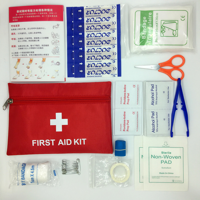 13 itens/44 pçs kit de sobrevivência emergência mini kit de primeiros socorros da família esporte kit viagem em casa saco médico ao ar livre carro kit de primeiros socorros|Kits de emergência|   -