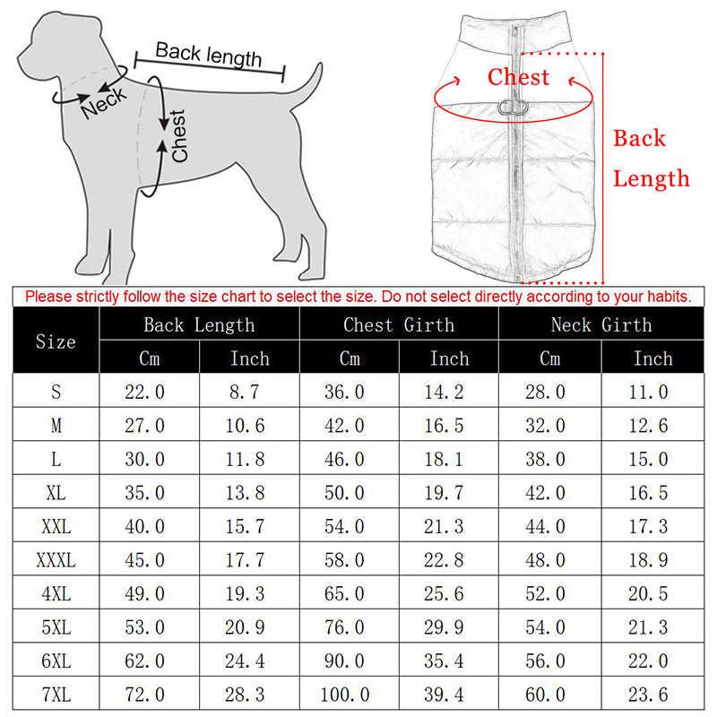 Roupas para cães grandes à prova dbig água grande cão colete jaqueta outono inverno quente pet cão casaco roupas para cães chihuahua labrador S-7XL
