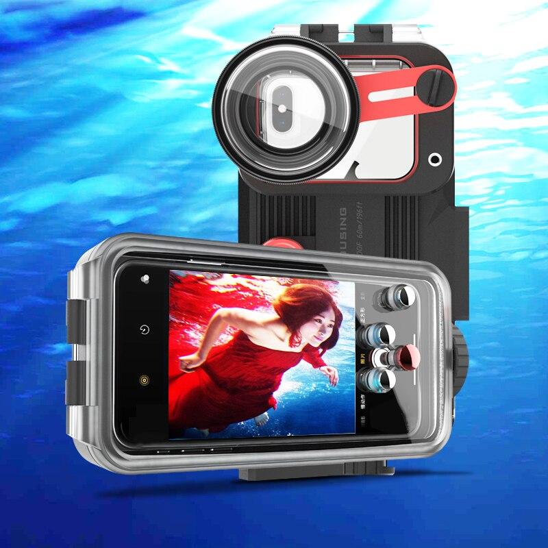 Подводный чехол для телефона Huawei P20 P30 Pro Mate 20 30 Pro 60M водонепроницаемый корпус для телефона с hd объективом для дайвинга 1 шт.