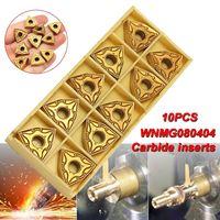 10 pçs wnmg0804 inserções de carboneto para wwlnr 1616 mwlnr08 torno torneamento ferramenta titular