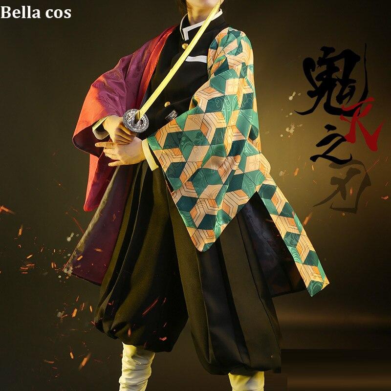 Kimetsu no Yaiba Tomioka Giyuu Cosplay Costume Long Robes Kimono Demon Slayer
