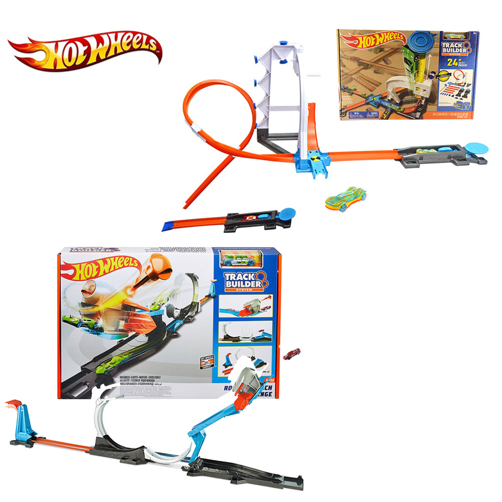 Hot <font><b>Wheels</b></font> 4 in 1 Super Track Pack <font><b>Model</b></font> <font><b>Cars</b></font> Kids Pvc Slot <font><b>Car</b></font> Toys Hot <font><b>wheels</b></font> <font><b>Car</b></font> <font><b>Models</b></font> Gift For Kids DIY Toys DLF28 image