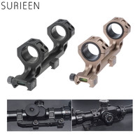 Hunting 25.4mm /30mm Dual Ring Cantilever Heavy Duty Scope Mount With Bubble Level fit Picatinny Weaver Rail 20mm Rifle Shotgun