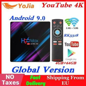 RK3318 H96 MAX Smart TV Box Android 9.0 4GB RAM 64GB ROM 32G 4K WiFi Media Player google Stimme Netflix Youtube 2G16G Set Top BOX