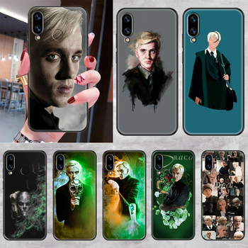 Draco Malfoy Phone case For Huawei Honor 6 7 8 9 10 10i 20 A C X Lite Pro Play black 3D prime art waterproof silicone cover image
