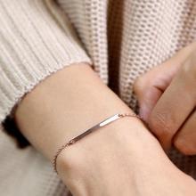 JUJIE Korean Style Stainless Steel Chain Bracelets For Women 2020 Charms Bracelet Friendship Jewelry Dropshipping
