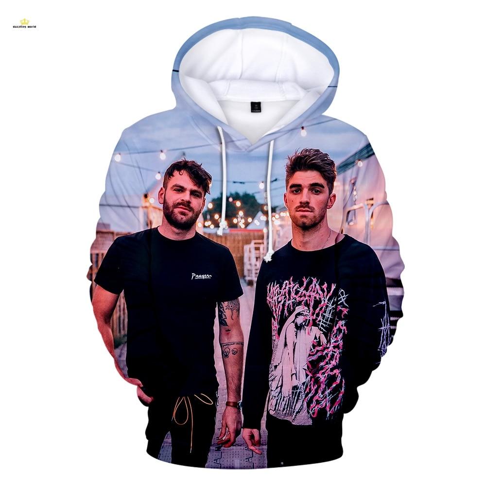 2019The Chainsmokers Hoodies 3D Print Sweatshirts Hot Sale Harajuku Long Sleeve Clothes 2019 Hoodies Plus Size Men Women