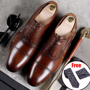 Mens formal shoes leather oxford shoes for men dressing wedding men's brogues office shoes lace up male zapatos de hombre - DISCOUNT ITEM  49% OFF All Category