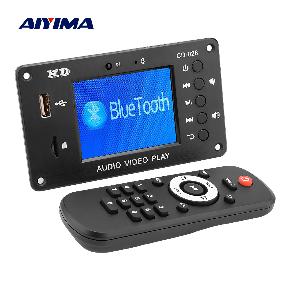 AIYIMA Bluetooth 5.0 MP3 Decoder Player AUX USB TF Card FM Radio Decoding Module DIY Sound Amplifier Speaker Home Theater