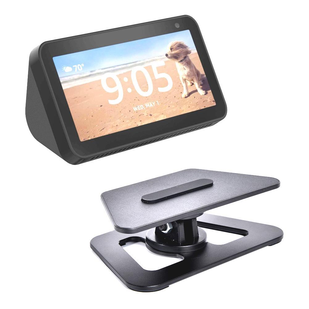 360 Degree Horizontal Rotation Stand For Amazon Echo Show 5 Fully Aluminum Build Anti-Slip Base For Echo Show 5 Dropship