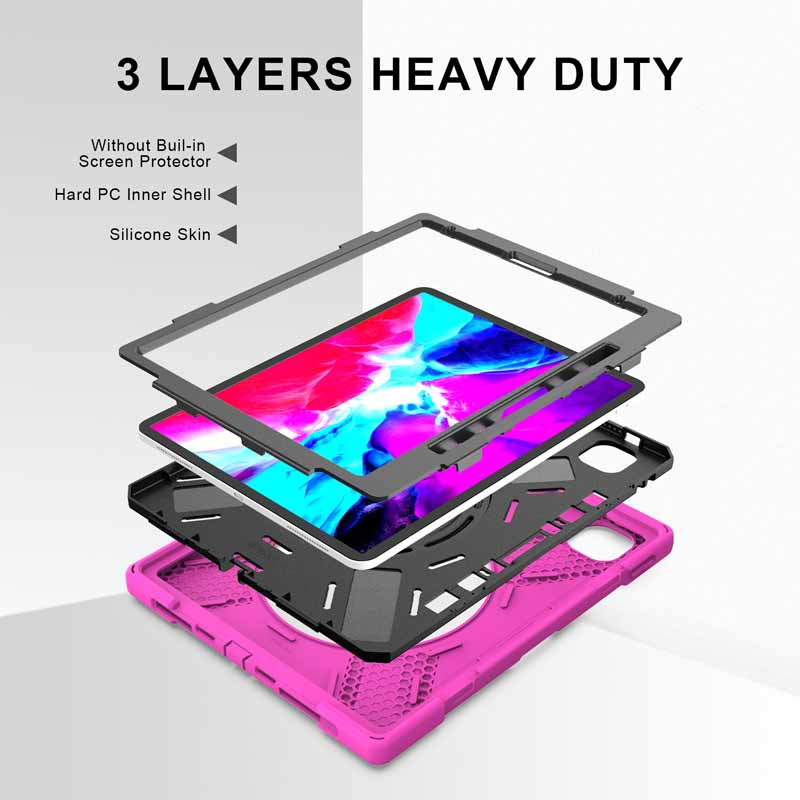 Case For iPad Pro 12 9 2021 A2379 A2461 A2462 Heavy Duty Rugged Protection Cover with