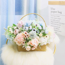 цены Living Room Bouquet Plastic Fake Flower Shooting Props Artificial Flower Decorations Home Decoration Decoration Holding Flowers