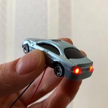 5 Pcs Model Cars with 12v Led Lights Plastic Car 1:87 Ho Scale /railway/railroad/train Building Scenery Layout Set Model HO/N