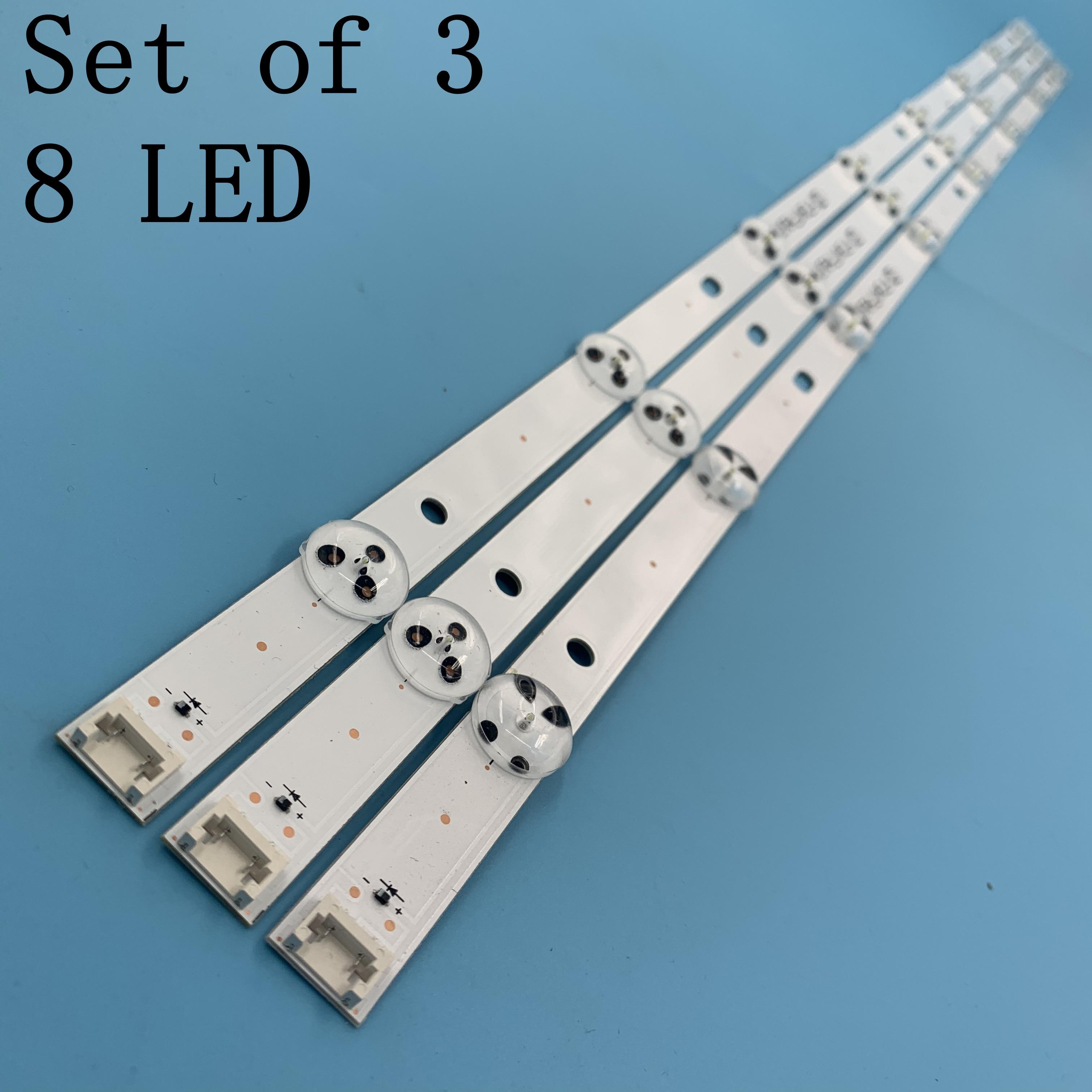 New Kit 3 PCS 8LEDs 850mm LED Backlight Strip For LG 43LH604V 43LH60_FHD_A Type UF64_UHD_A 43UH610V 43UF640 43UH610A 43LH5700
