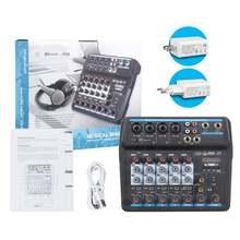 Профессиональный 6 канальный аудиомикшер с usb интерфейсом bluetooth