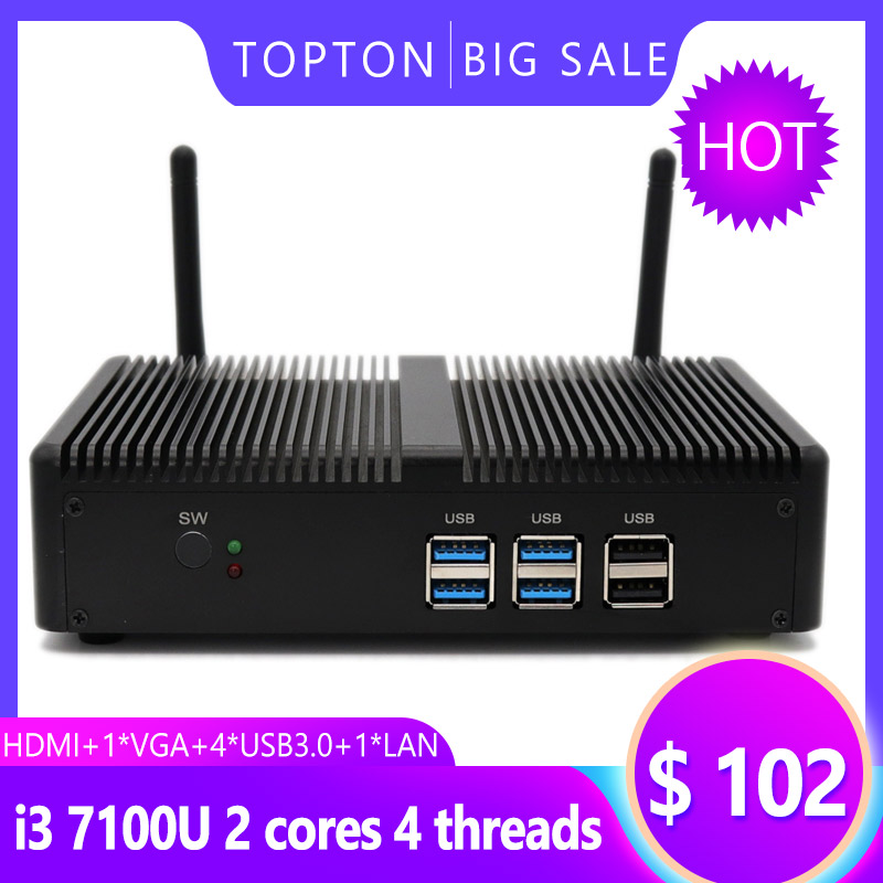 Mini PC Windows 10 Pro OS With Intel I5 7200U Processor HD Graphics ,Fanless Mini Desktop Computer With Ethernet And HDMI Port