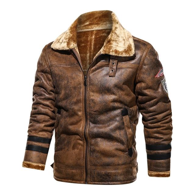 Large Size 5XL Sheepskin Slim Aviation Genuine Leather Bomber Jacket Men Real Leather Flights Jacket Black Aviator Pilot Coats 5
