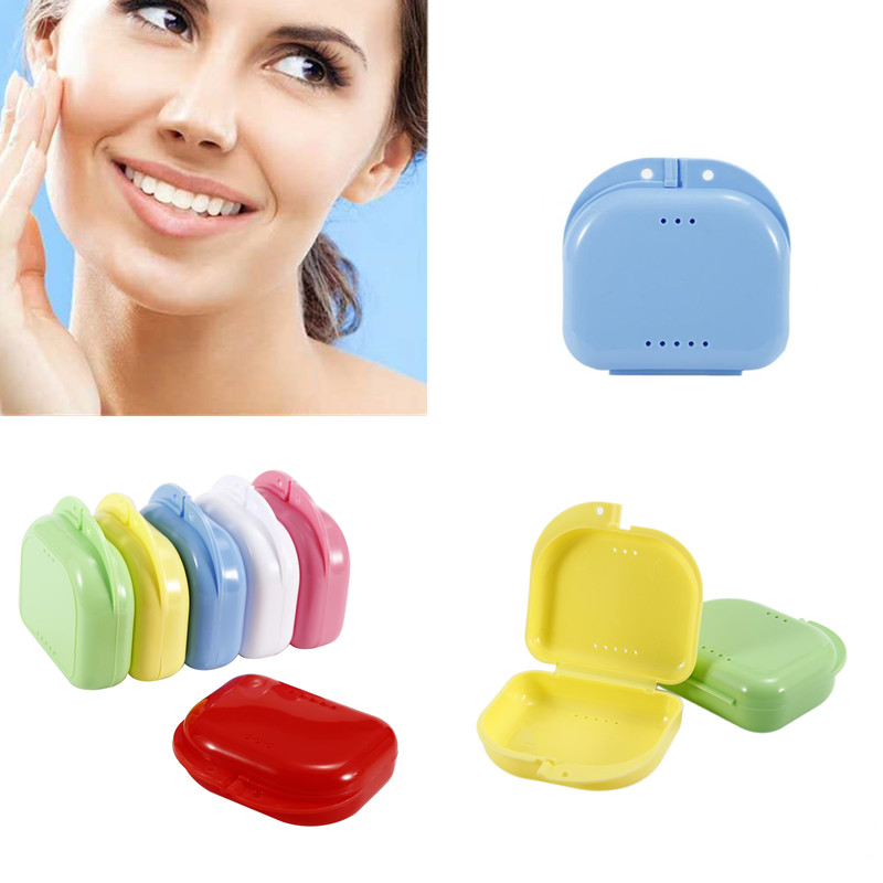 6 Colors Dental Retainer Orthodontic Mouth Guard Denture Storage Case Box Plastic Oral Hygiene Supplies Organizer  Accessories