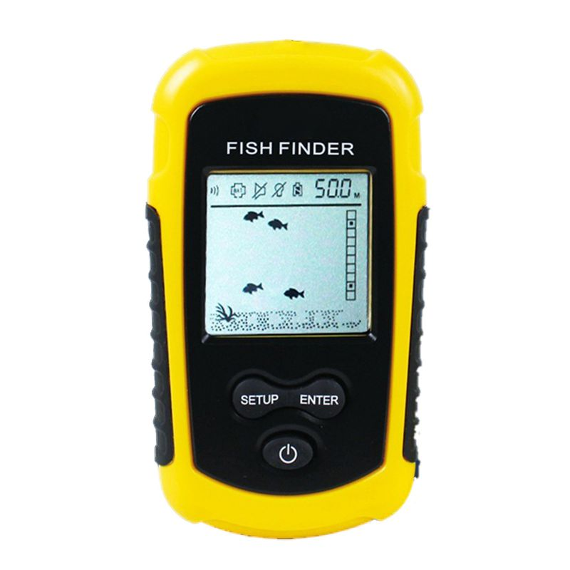 Hot HG FF1108 1 Portable Sonar Alarm Fish Finder Echo Sounder 0.7 100M Transducer Sensor Depth Finder #B3 Yellow|Fish Finders| |  - title=