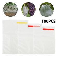 100 шт сумка для защиты растений и фруктов многоразовый сетчатый