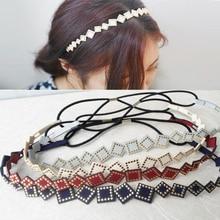Korean Style the box Leather Rivet Versatile Hair Band Accessories Headwear for Women Girls Ladies