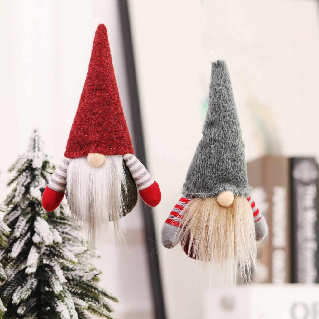 2020 weihnachten Gesichtslosen Gnome Santa Weihnachten Baum Hängen Ornament Puppe Dekoration Kreative Weihnachten Baum Anhänger Alte Mann Geschenk Puppe