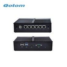 משלוח חינם Qotom Q555G6 Q575G6 7th תעשייתי מחשב Gateway חומת אש נתב עבור pfSense   Intel i5 7200U i7 7500U AES NI
