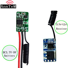 433 Mhz Mini Afstandsbediening Schakelaar Micro Ontvanger Zender Module DC4V 12V Remote DC3.5v 12 V Receiver3.7V 4.5V 5V6V9V rxtx